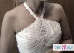Suknia WHITE ONE 2010, styl EMPIRE, BIAŁA, rozmiar 36-38, prosta, zwiewna
