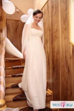 Suknia White One 3018 z muślinu kolekcja 2010