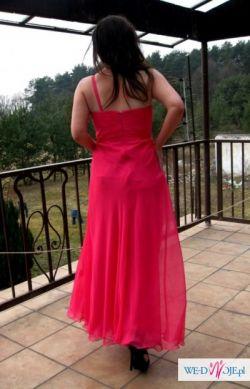 Suknia wieczorowa BICICI,wesele,roz.M,kolor malinowy-sprzedam!