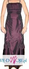 Suknia wieczorowa ciemny fiolet