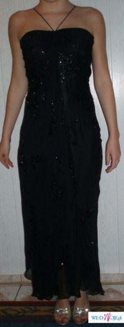 suknia wieczorowa czarna firmy BICICI