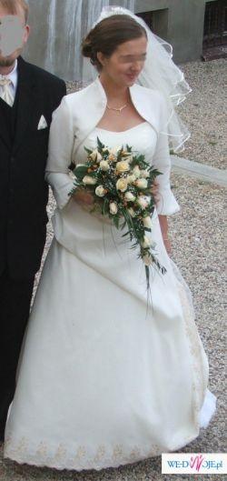 !!!suknia z haftem!!! , rozm.38-40