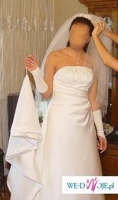 Suknia z kolekcji San Patrick z przepieknym upinanym trenem