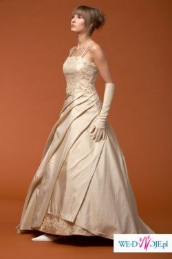 suknia z salonu KARINA kolor toffi - TANIO