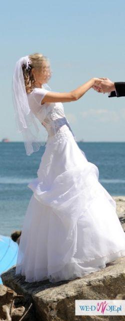 Suknia z salonu Marietta model Chloe z kolekcji Celebrity One- rozmiar 36, biała