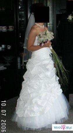 suknia z tafty r.36 AGNES