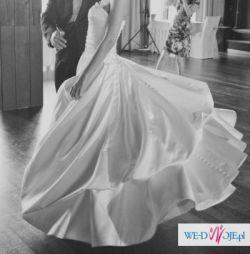 Suknie ślubna Georgia Pronovias z długim welonem 2012r