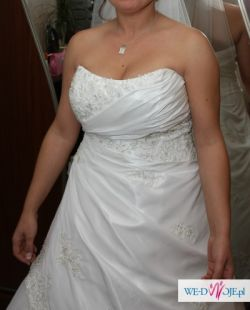 SUPER OKAZJA suknia na panie z dużym biustem HERMS, model Eleri.