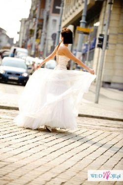 SUPER śliczna NIETYPOWA Suknia Ślubna Roz. 36!!