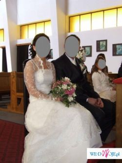 Tania i bardzo ładna suknia ślubna