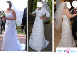 Tanio elegancka suknia ślubna