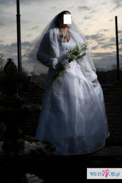 Tanio! - piękna biała suknia ślubna