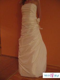 tanio sprzedam skromną suknię ślubną -500 PLN (do negocjacji)