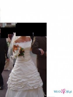 Tanio sprzedam śliczna suknię ślubną