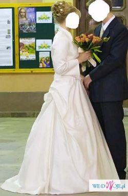 Tanio sprzedam suknie ślubną Paola ecrii