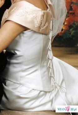 tanio sprzedam suknię ślubną z dodatkami
