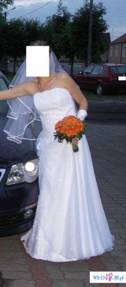 TANIO Suknia ślubna biała dodatki 36 używana