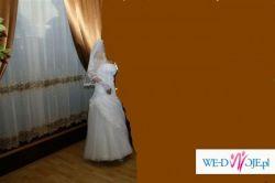 tanio suknia ślubna+bolerko i welon