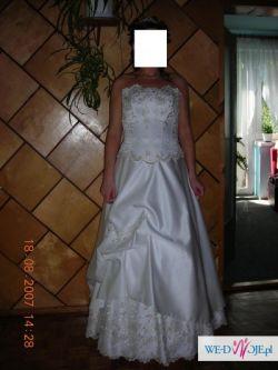 tanio suknia ślubna rozmiar 40/42