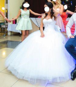 Tiulowa Śnieżnobiała Suknia Ślubna