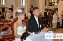 Toczek ślubny z woalką
