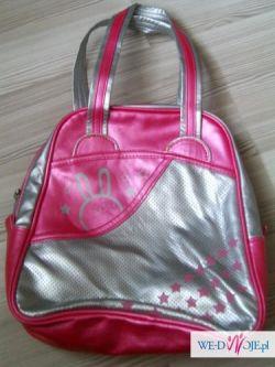 torebka do ręki lub na ramię różowa butik