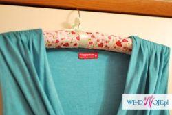 turkusowa (morska) sukienka ciążowa Happy Mum