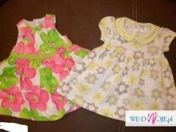 Ubranka na lato rozmiar 74 dla dziewczynki