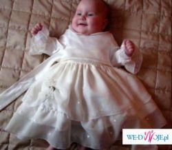 ubranko do chrztu dla dziewczynki r.62 Gliwice