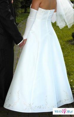 Ultrabiała Suknia ślubna - Projekt AUTORSKI