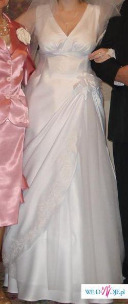 UNIKALNA suknia ślubna z żakietem i dodatkami dla Pań z dużym biustem