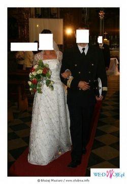 urocza koronkowa suknia nr 38-40