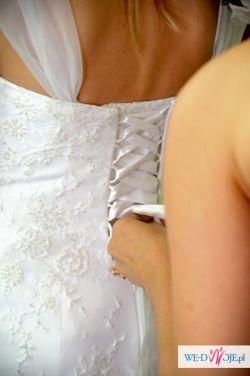 Urocza suknia ślubna Agnes MS Moda