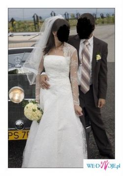 Urocza suknia ślubna firmy AGORA model 26-36, roz. 36/38