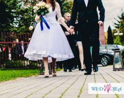 urocza suknia w stylu retro rozmiar 36, w cenę wliczone gratisy!