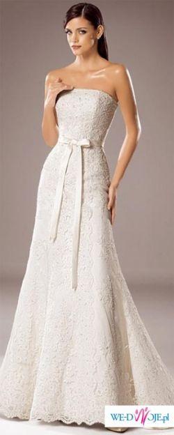 WHITE ONE model 176 rozmiar 42/44 + halka + welon krótki i długi (2,5m) GRATIS!