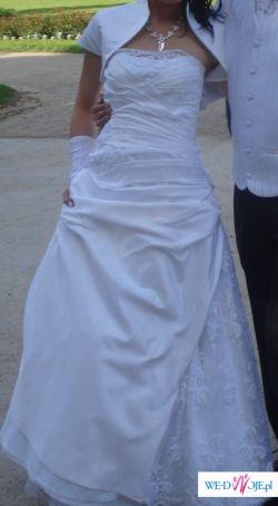 Witam, sprzedam TANIO suknię ślubną zależy mi na czasie ,       wyjeżdżam :)