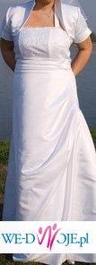 Witam wszystkich . Mam do sprzedania suknie ślubną koloru białego