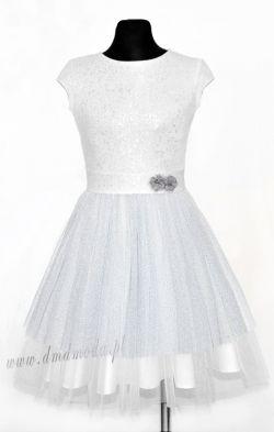 Wizytowa sukienka dla dziewczynki na przyjęcie, wesele oraz na mniej wystawne okazje w roz. 98-164