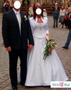 włoska śliczna suknia ślubna