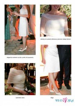 włoska sukienka na slub cywilny lub koktajl