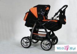 Wózek Baby Merc-duze pompowane koła na amortyzatorach + Gratisy