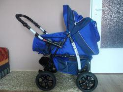 Wózek dziecięcy wielofunkcyjny 3 w 1 + pierwszy fotelik