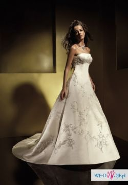 Wspaniała suknia Benjamin Roberts model 908 wyszywana Swarowski Jedyna w Polsce