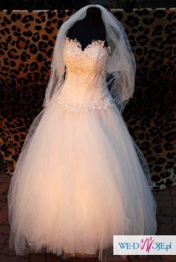 Wspaniała Suknia ślubna Fergie Paris Svarovski
