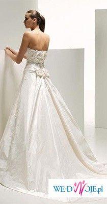 Wyjątkowa, bardzo oryginalna suknia ślubna Manuel Mota - model Scarlet 2009