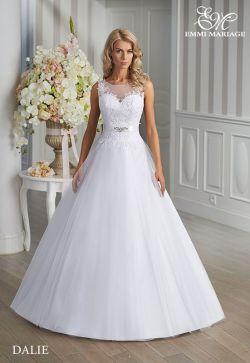 Wyjątkowa biała suknia ślubna + koło + welon, stan bdb
