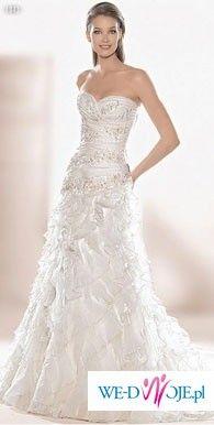 Wyjątkowa hiszpańska suknia ślubna atelier diagonal model 1843