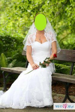 Wyjątkowa koronkowa suknia Forever Yours Madleine (BOLERKO I WELON GRATIS!!!!)
