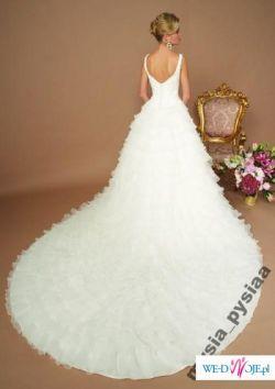 Wyjątkowa suknia SINCERITY 3243 z trenem 34 / 36